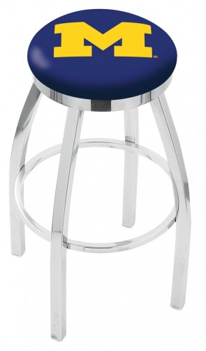L8C2C University of Michigan Logo Bar Stool