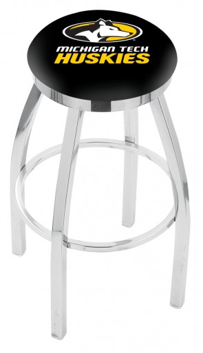 L8C2C Michigan Tech Logo Bar Stool