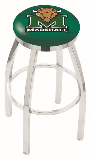 L8C2C Marshall University Logo Bar Stool