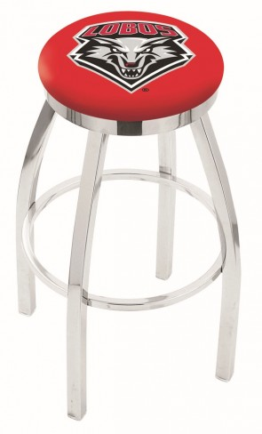 L8C2C University of New Mexico Logo Bar Stool