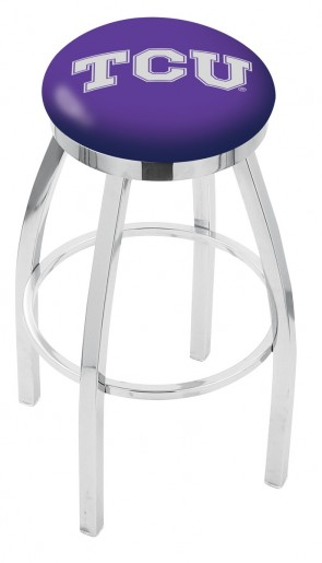 L8C2C Texas Christian University Logo Bar Stool