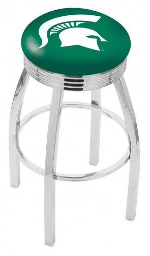 L8C3C Michigan State University Logo Bar Stool