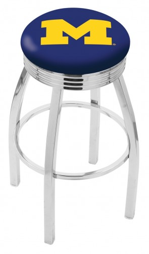 L8C3C University of Michigan Logo Bar Stool