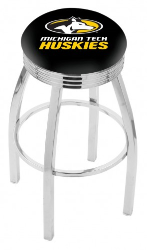 L8C3C Michigan Tech Logo Bar Stool