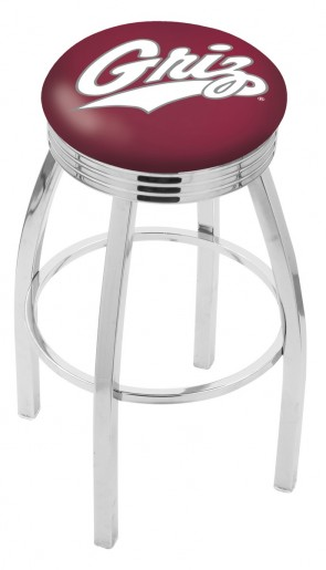 L8C3C University of Montana Logo Bar Stool