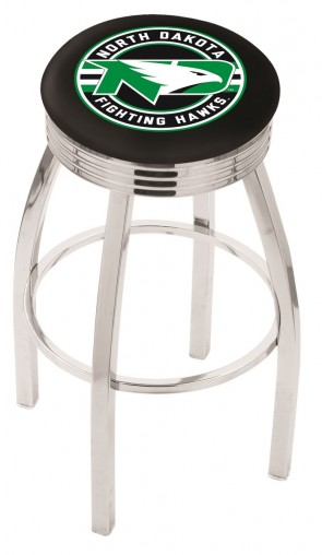 L8C3C University of North Dakota Logo Bar Stool