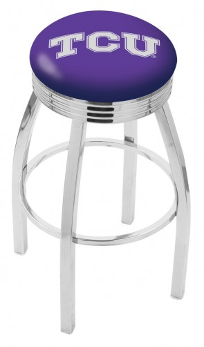 L8C3C Texas Christian University Logo Bar Stool