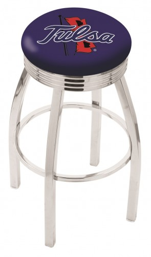 L7C3C University of Tulsa Logo Bar Stool