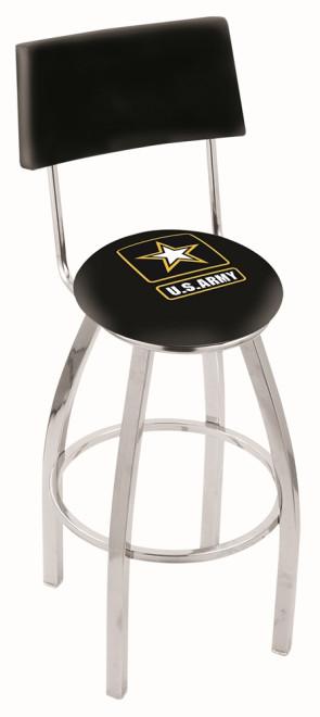 L8C4 US Army Logo Bar Stool