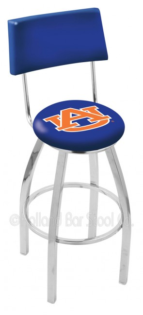 L8C4 Auburn University Logo Bar Stool