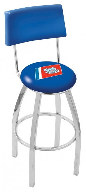 L8C4 US Coast Guard Logo Bar Stool
