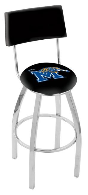 L8C4 University of Memphis Logo Bar Stool