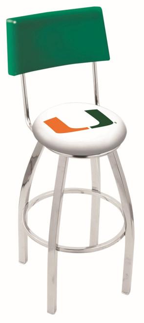 L8C4 University of Miami Florida Logo Bar Stool