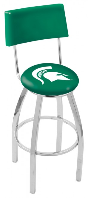 L8C4 Michigan State University Logo Bar Stool