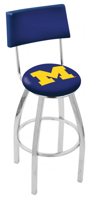 L8C4 University of Michigan Ohio Logo Bar Stool