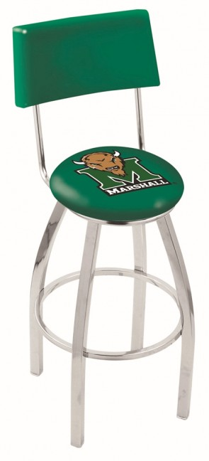 L8C4 Marshall University Logo Bar Stool