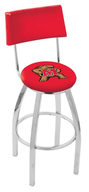 L8C4 University of Maryland Logo Bar Stool