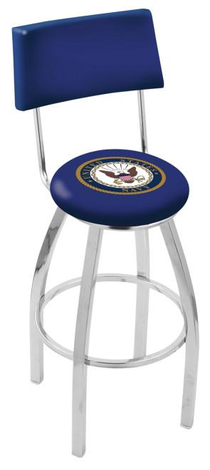 L8C4 US Navy Logo Bar Stool