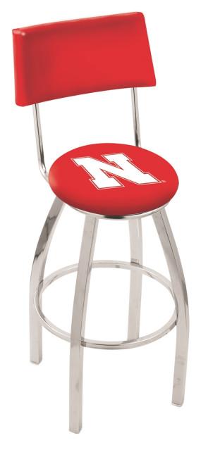 L8C4 University of Nebraska Logo Bar Stool