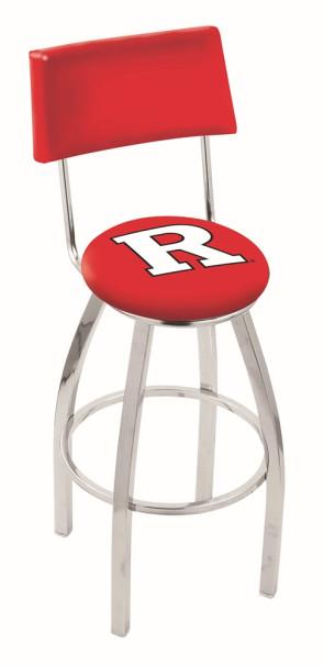 L8C4 Rutgers University Logo Bar Stool