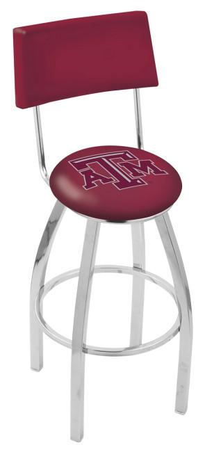 L8C4 Texas A&M Logo Bar Stool