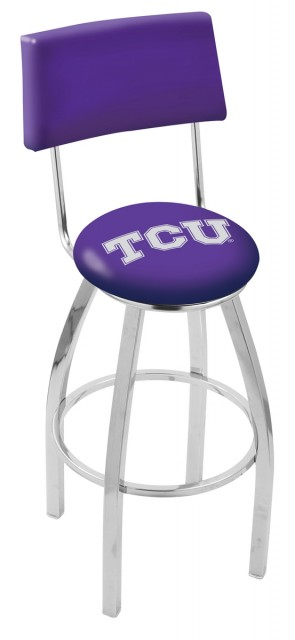 L8C4 Texas Christian University Logo Bar Stool
