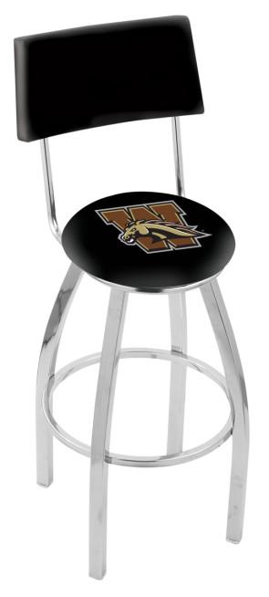 L8C4 Western Michigan University Logo Bar Stool
