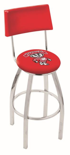 L8C4 University of Wisconsin - Bucky Logo Bar Stool