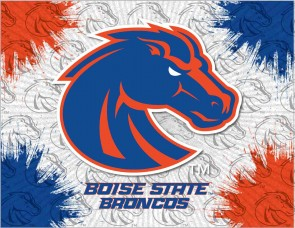 Boise State Logo Printed Canvas Art