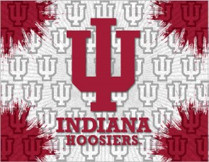 Indiana University Logo Printed Canvas Art