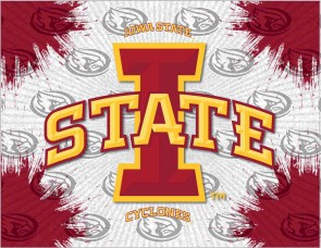 Iowa State University Logo Printed Canvas Art
