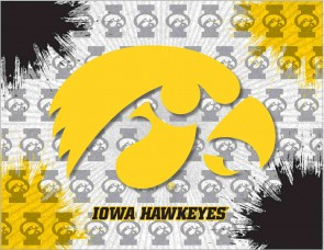 University of Iowa Logo Printed Canvas Art