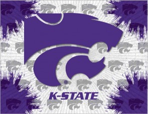 Kansas State University Logo Printed Canvas Art
