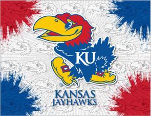 University of Kansas Logo Printed Canvas Art
