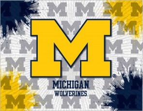 University of Michigan Logo Printed Canvas Art