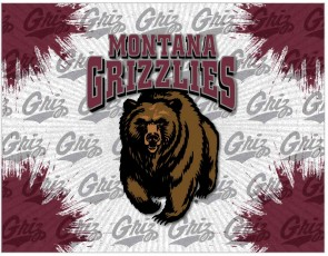 University of Montana Logo Printed Canvas Art