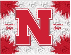 University of Nebraska Logo Printed Canvas Art