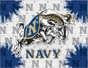 US Naval Academy Logo Printed Canvas Art
