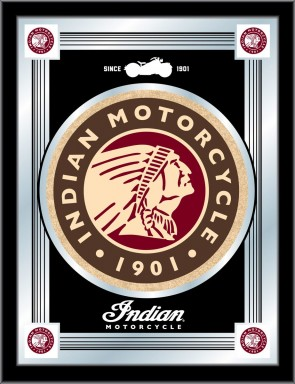 Indian Motorcycles Black Logo Mirror