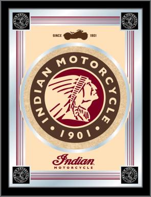 Indian Motorcycles Tan Logo Mirror