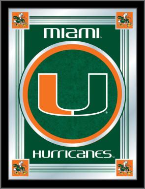 University of Miami Logo Mirror