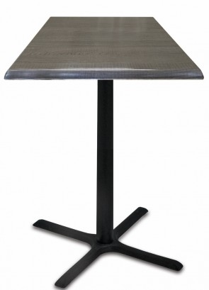 Square Charcoal Table Top with 211 Outdoor Base