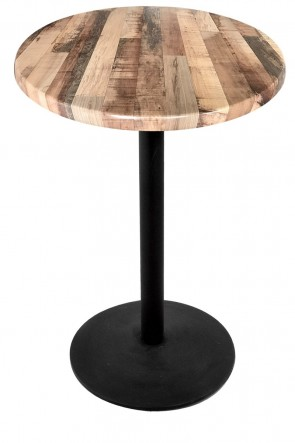 Round Rustic Table Top with 214 Outdoor Base