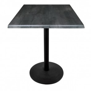 Square Black Steel Table Top with 214 Outdoor Base