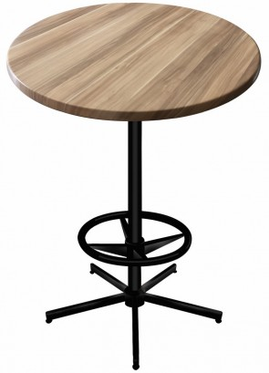 Round Natural Table Top with 216 Outdoor Base