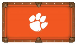 Clemson University Pool Table Cloth