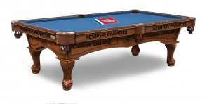 US Coast Guard Billiard Table With Logo Cloth