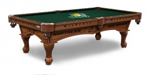 Northern Michigan Billiard Table With Logo Cloth