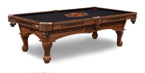 Oklahoma State Billiard Table With Logo Cloth