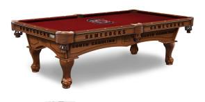 South Carolina Gamecocks Billiard Table With Logo Cloth
